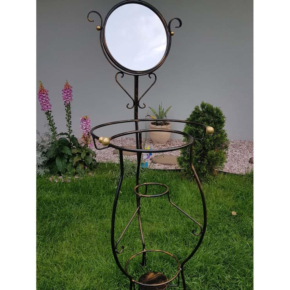 Ručne kovaný stojan so zrkadlom