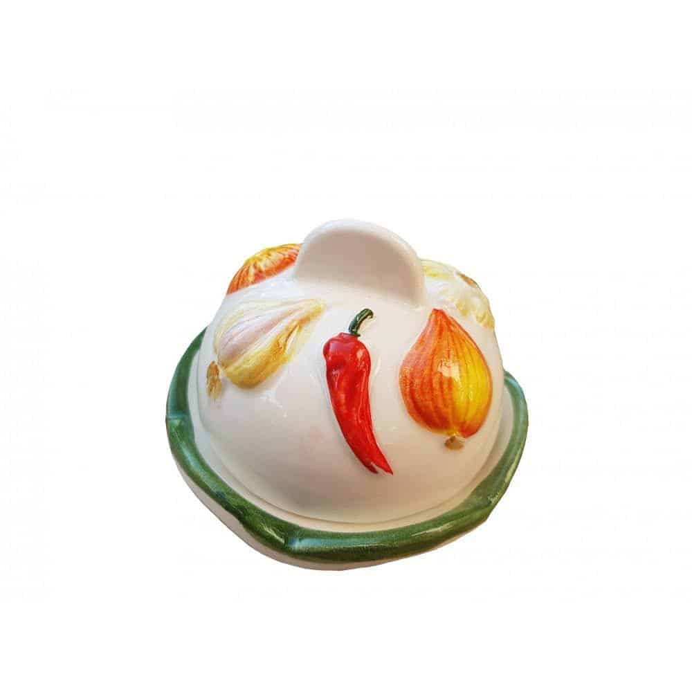Keramická dóza na cesnak a papričku