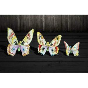 Keramický dekoračný motýľ na stenu