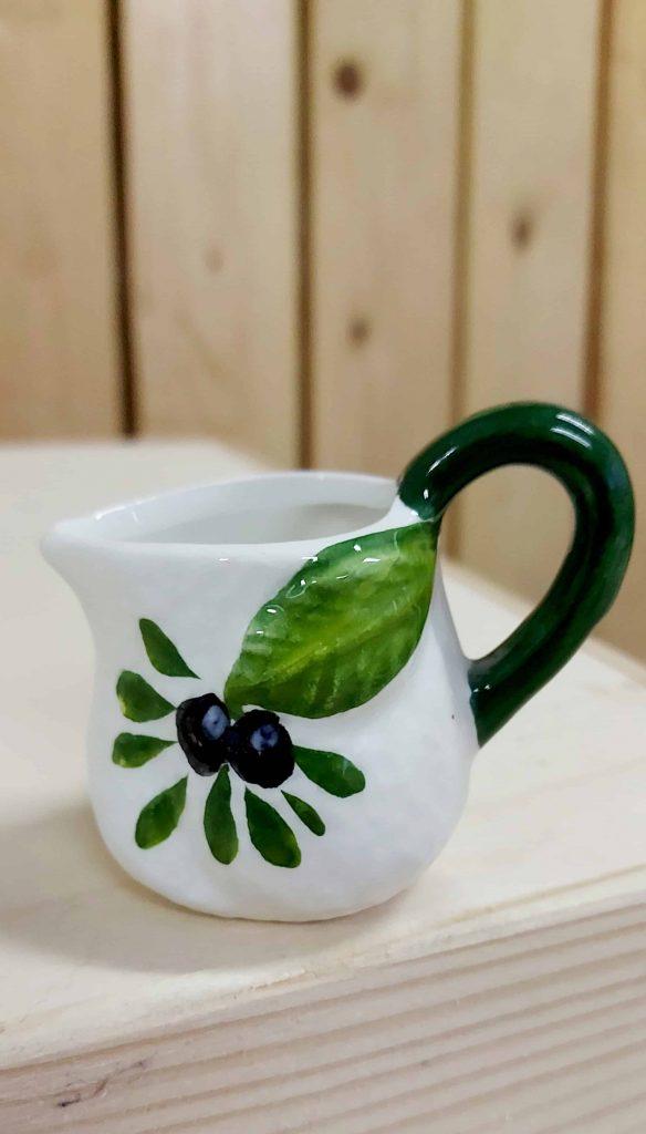 Keramický džbánik na olivový olej