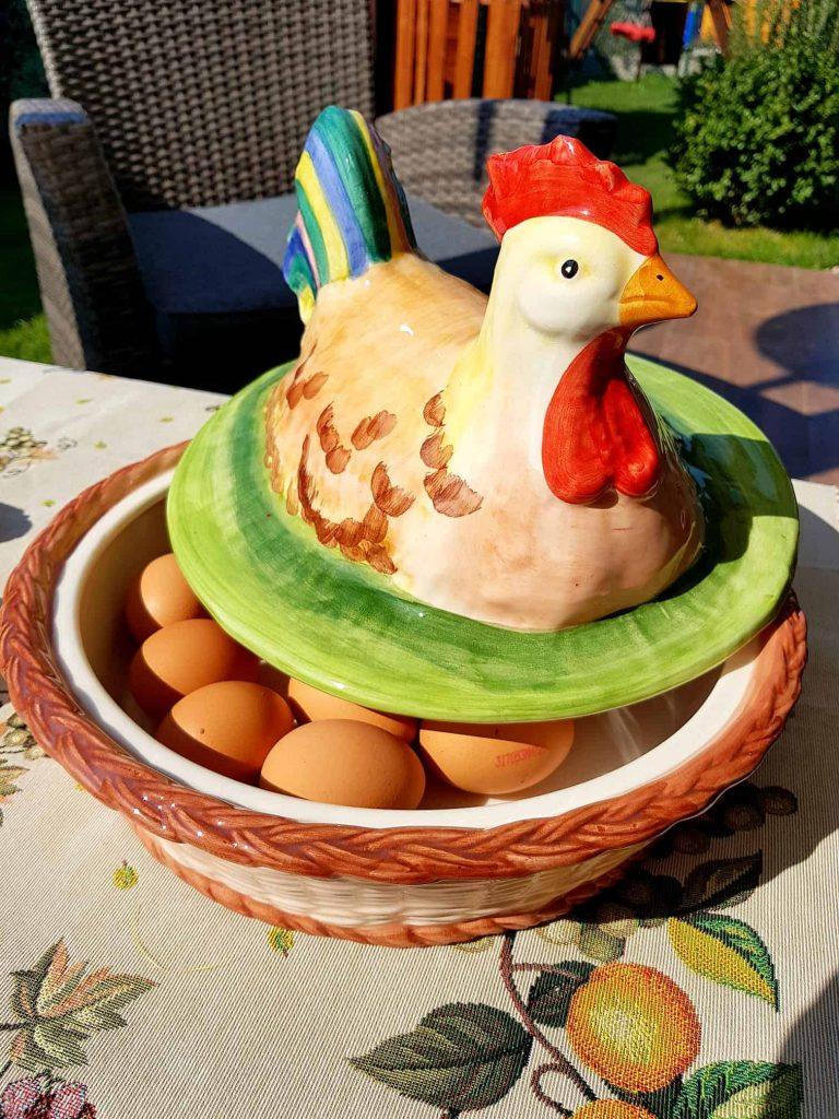 Keramická dóza na vajíčka