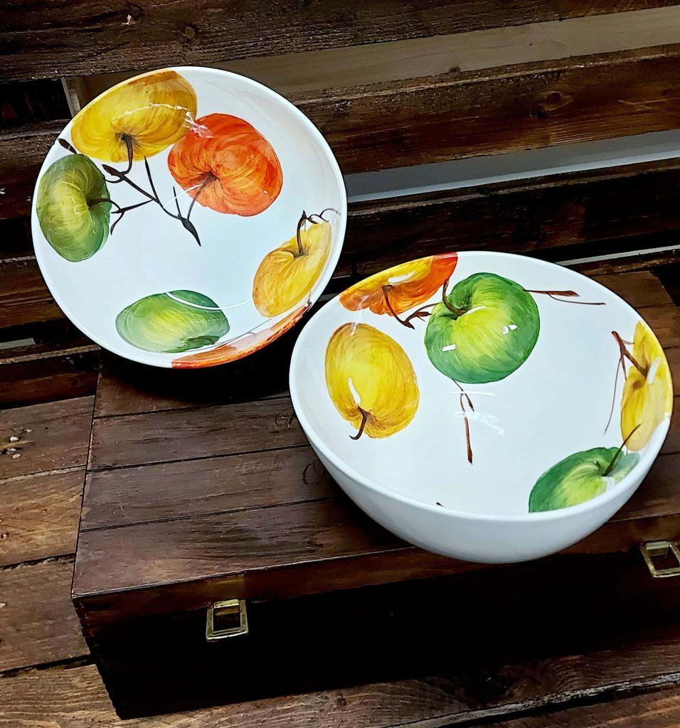 Keramická misa na ovocie JABLKÁ