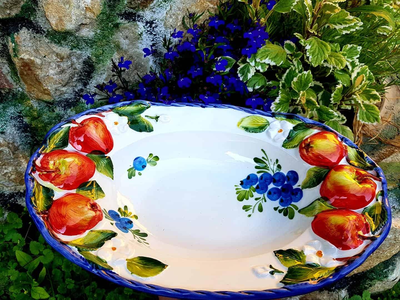 Keramická jabĺčková misa