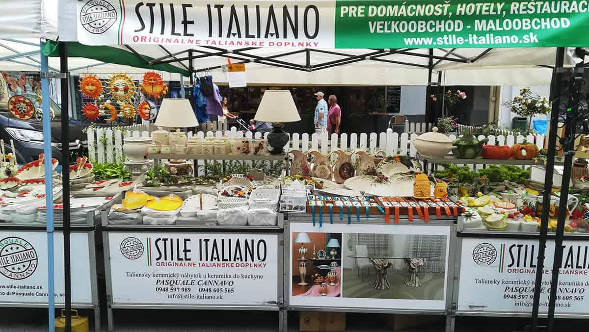 Talianske keramické trhy Pezinok