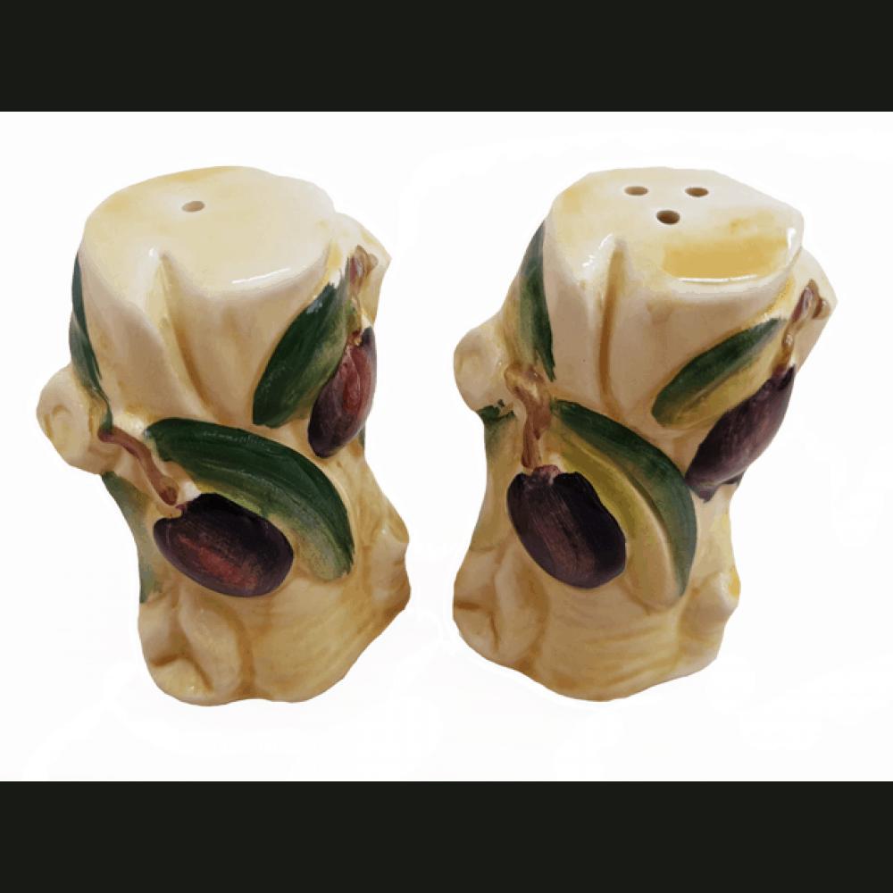 Keramická soľnička a korenička