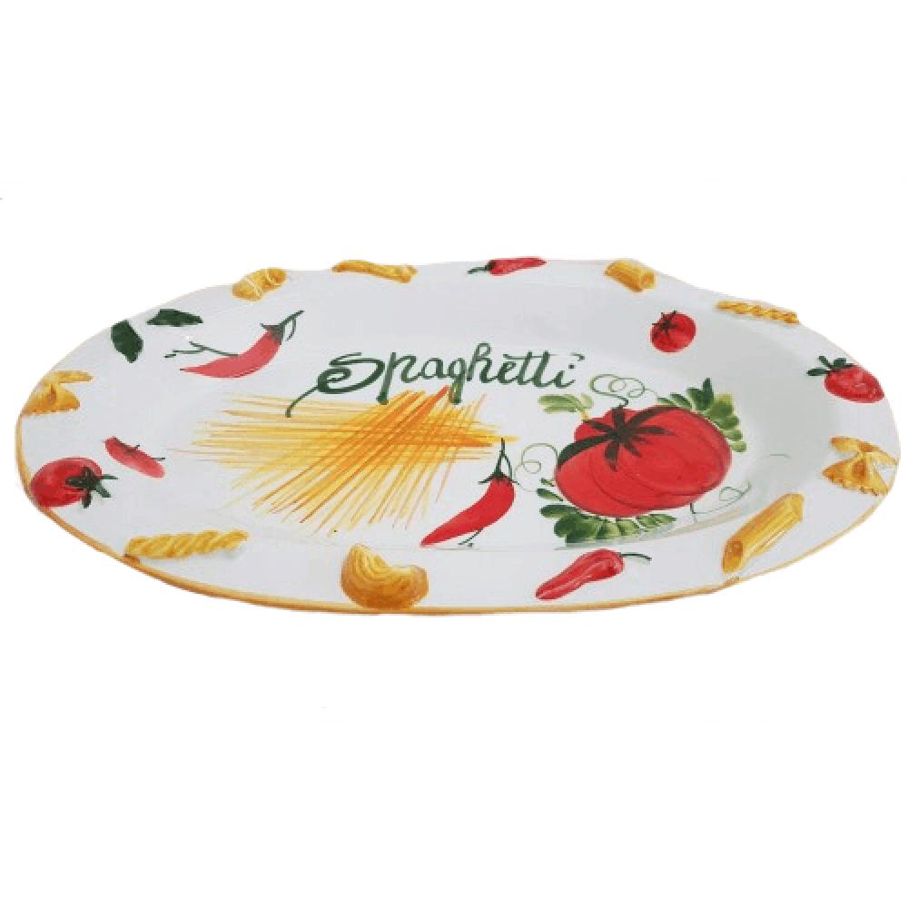 Keramický oválny servírovací tanier na cestoviny