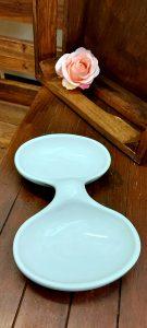 Keramická biela miska na predjedlá