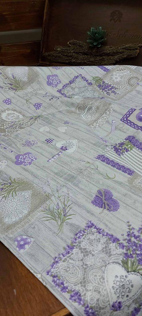 Bavlnené obrusy vzor LEVANDUĽA