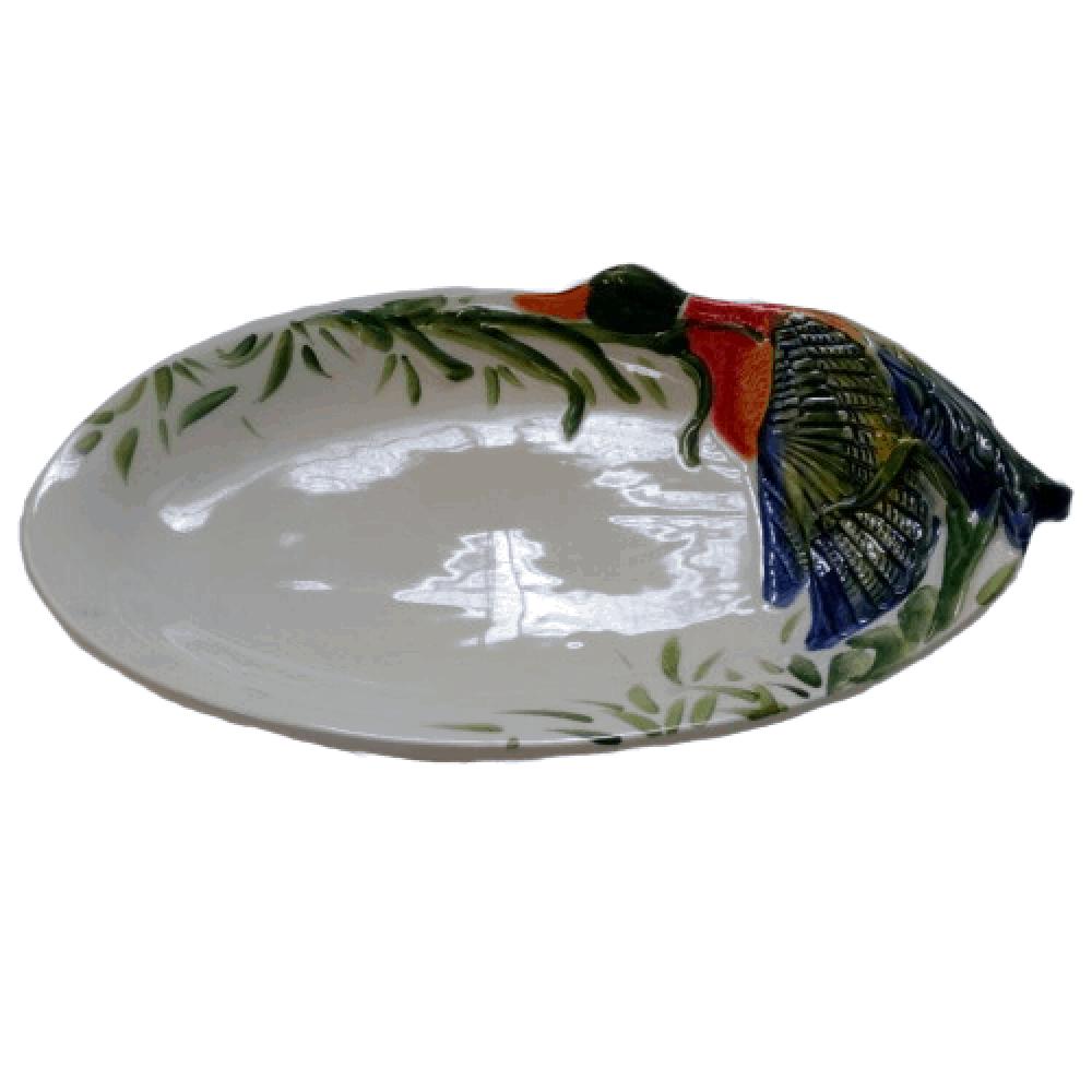 Keramický poľovnícky tanier a misa