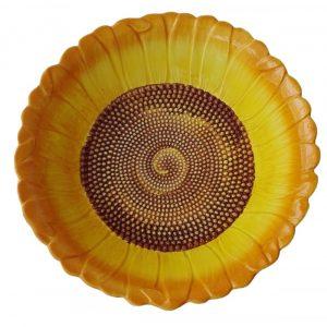 Keramická hlboká misa v tvare slnečnica