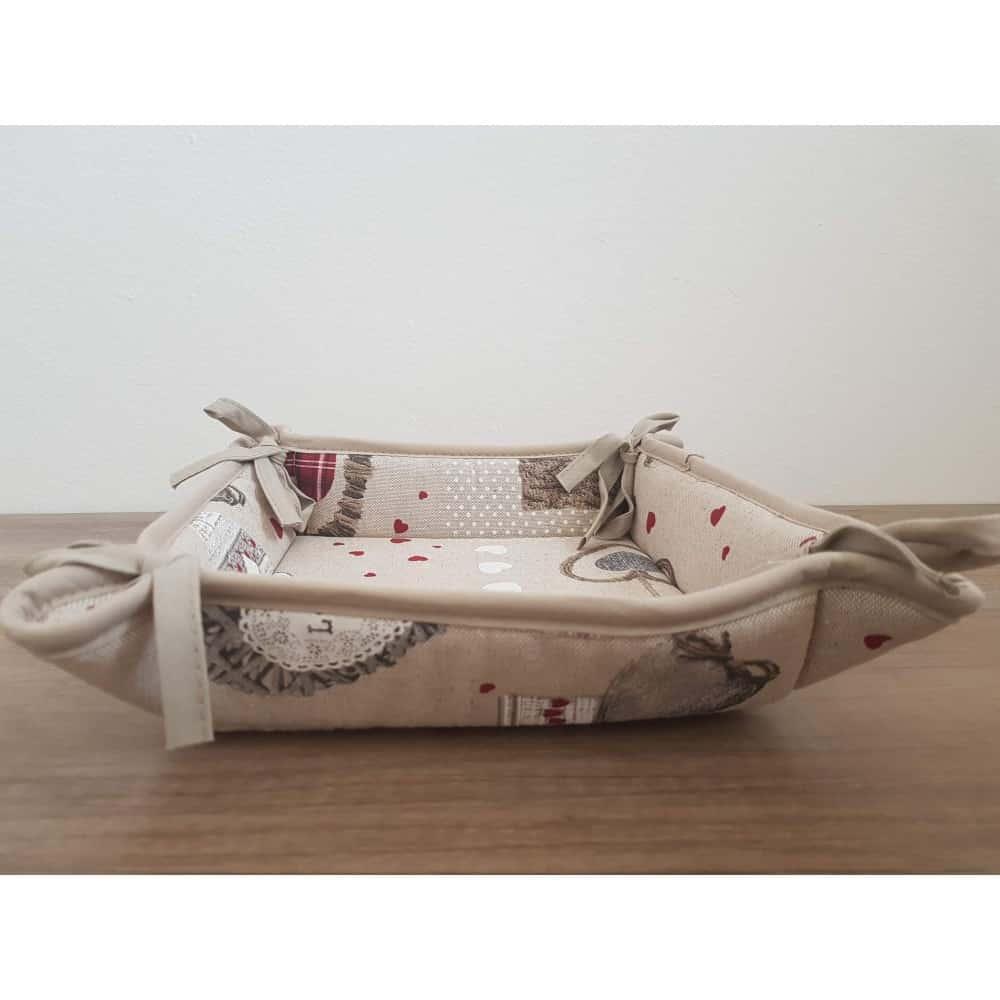 Textilný košík na pečivo a chlieb