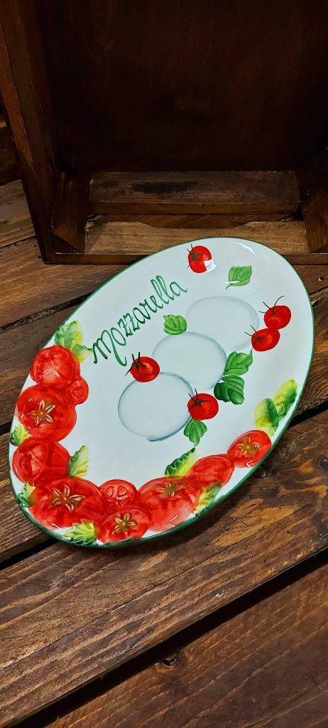 Oválny keramický tanier MOZZARELLA BR 1722/32