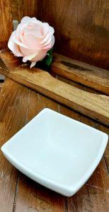 Malá keramická miska v bielej farbe QUADRO ED