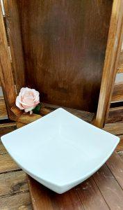Biela keramická misa bielej farby ED QUADRO21