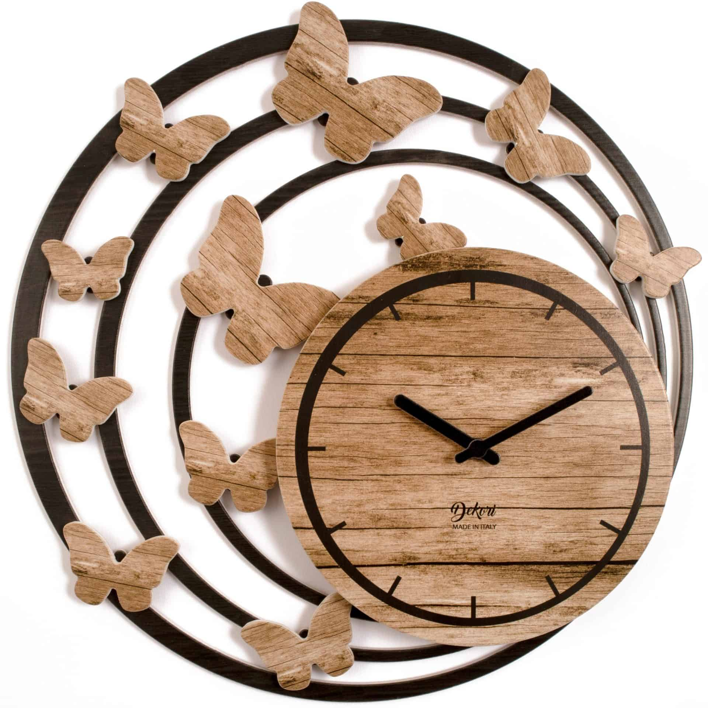 SPRING dizajnové nástenné hodiny HNEDÁ