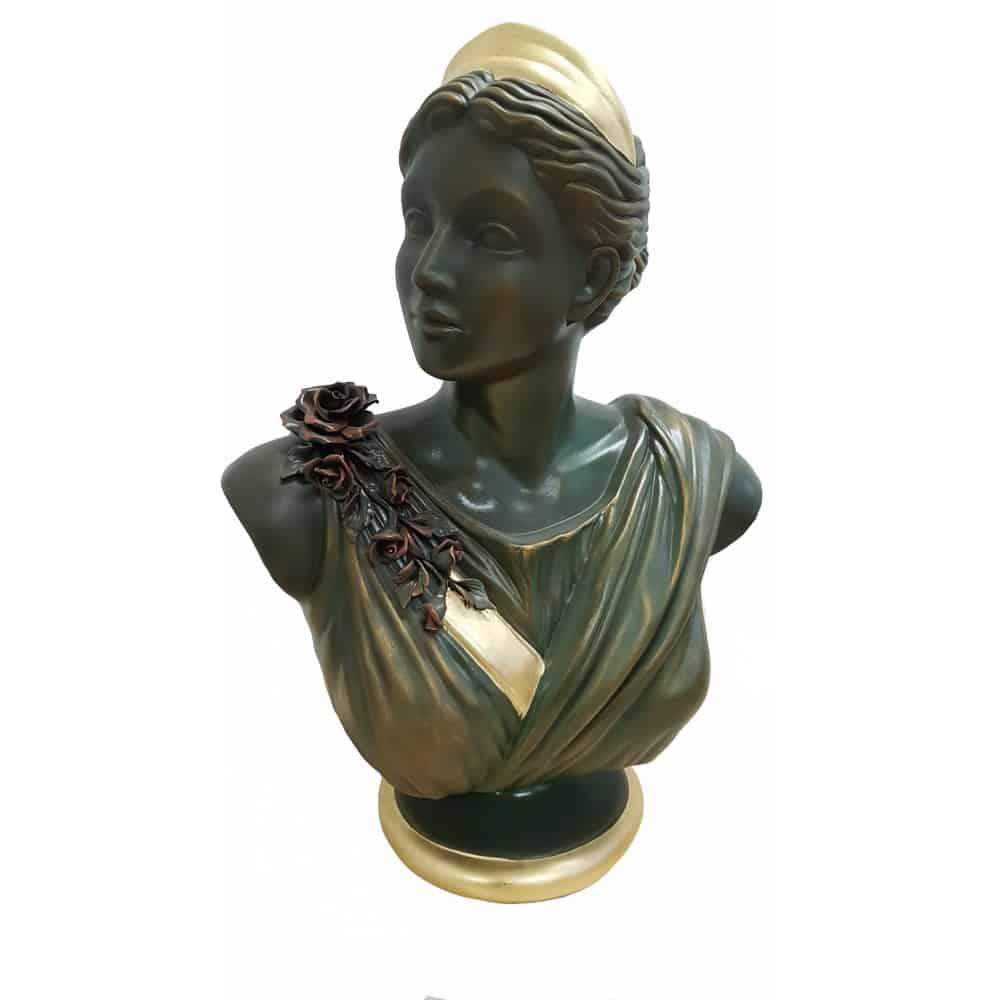 BUSTO keramická socha so stĺpom