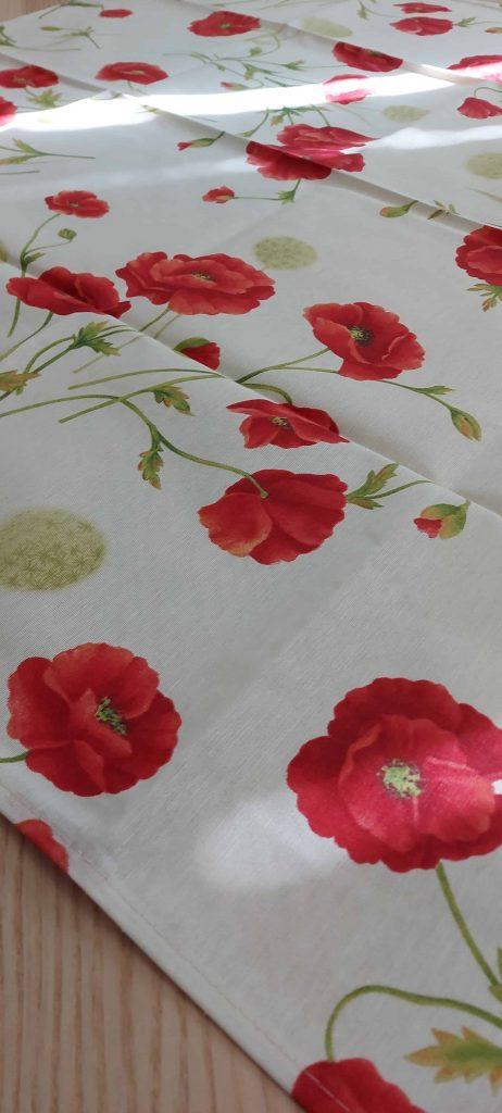 Bavlnené obrusy s motívom ČERVENÝ MAK