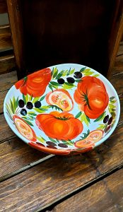 Hlboká misa z keramiky GIADA ED 30 paradajka