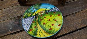 Krásny ručne maľovaný keramický tanier 21