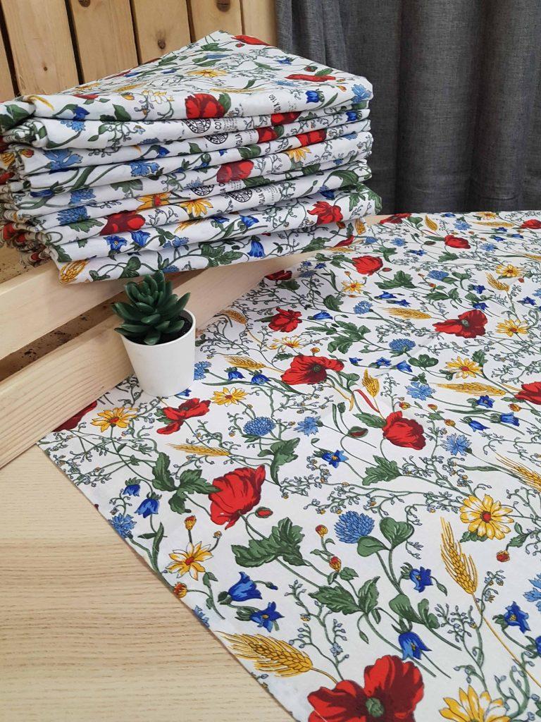 Bavlnené obrusy s motívom lúčne kvety