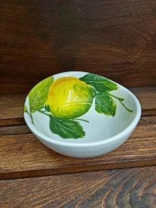 Keramická mini mištička s motívom citrón GIADA10ED
