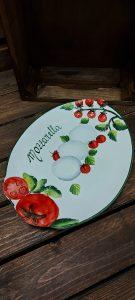 Keramický oválny tanier s motívom MOZZARELLA 3019