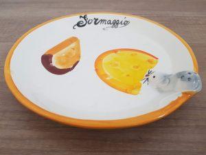 Okrúhly keramický tanier FORMAGGIO bianco