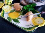 Keramický tanierik podnos s citrónovým motívom