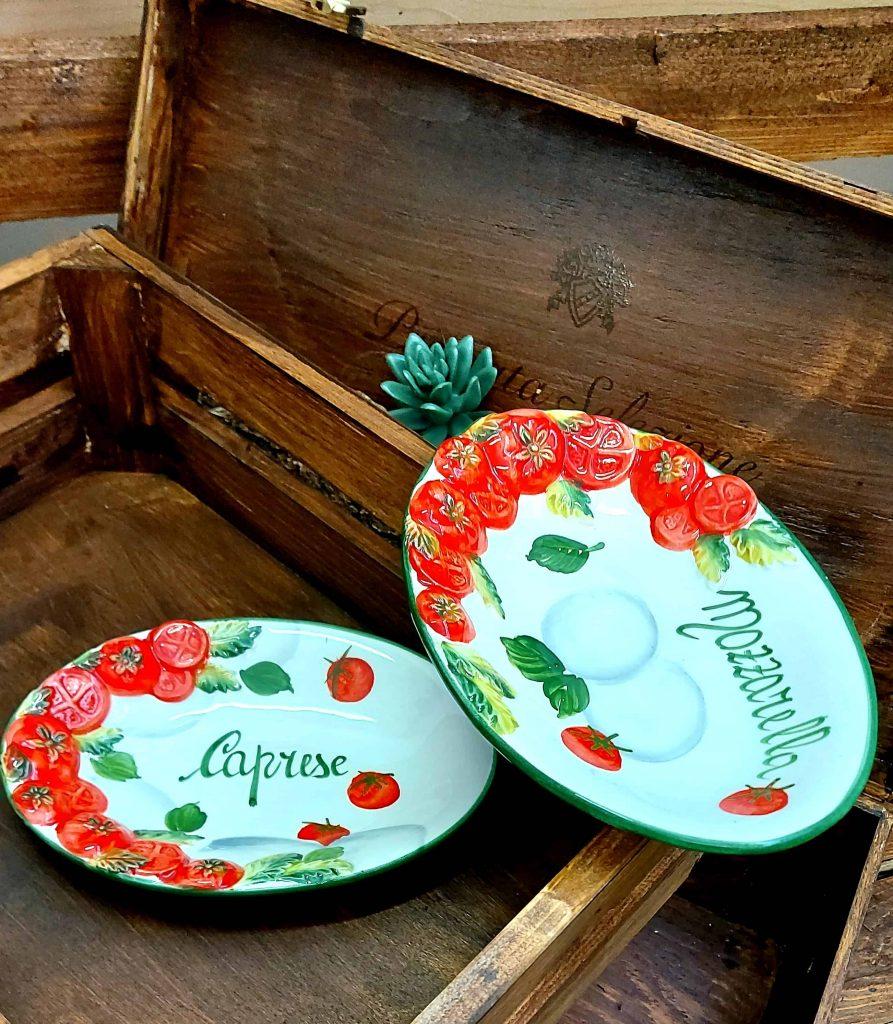 Keramický oválny tanierik Mozzarella Caprese 1456/21