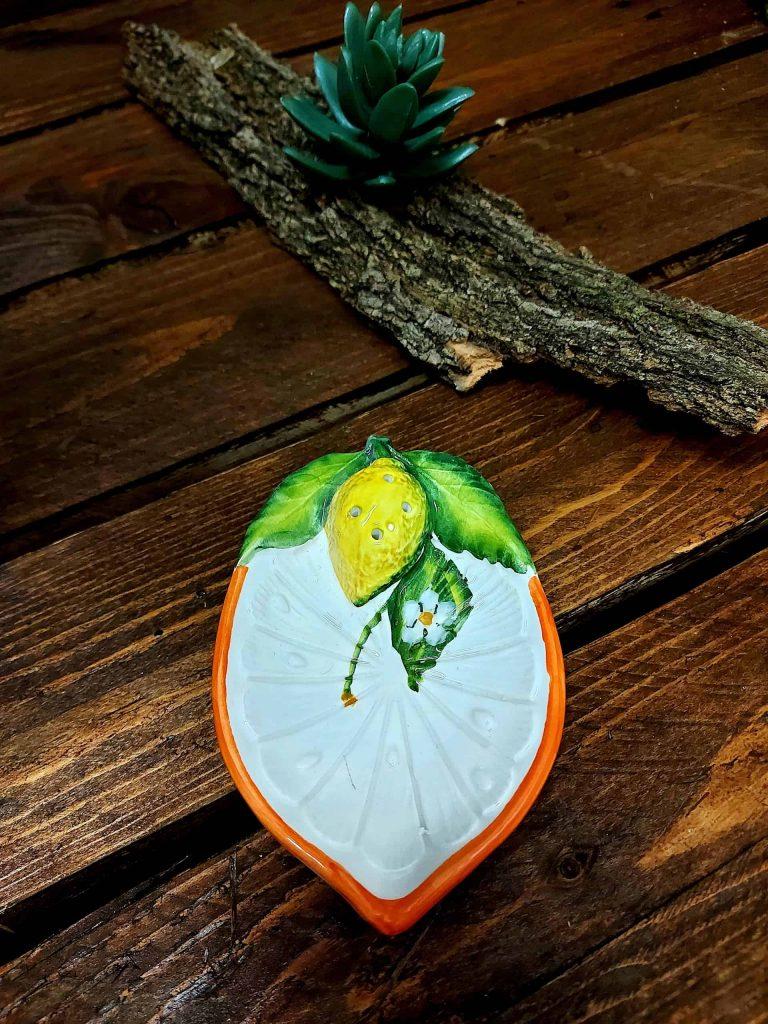 Keramické malé tanieriky na citrusy