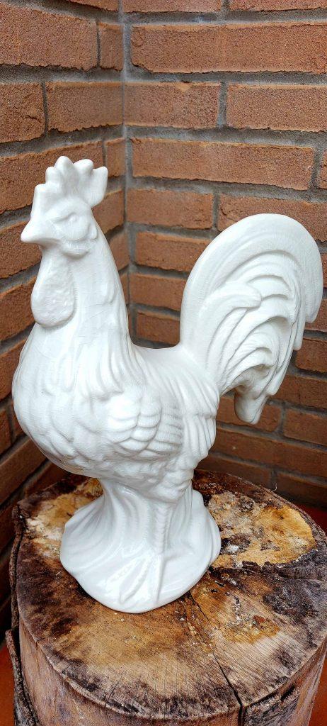 Biely kohút keramická dekorácia