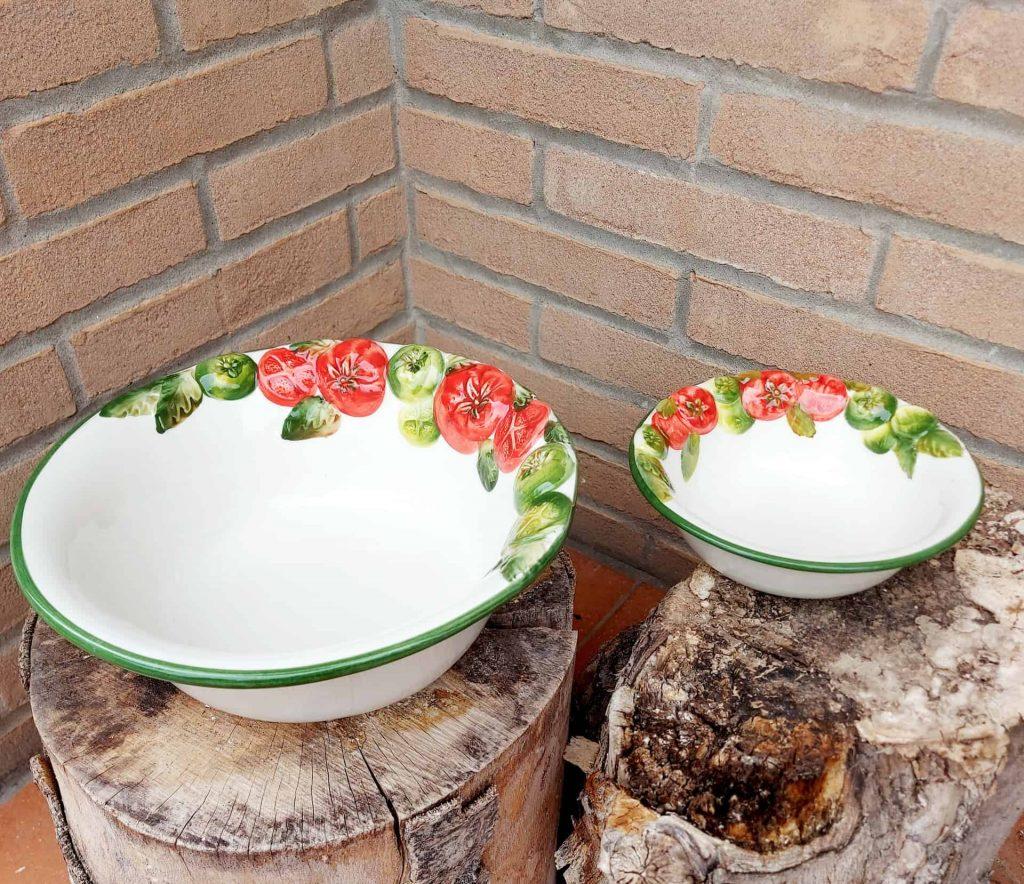 Keramické misky paradajka rôzne veľkosti