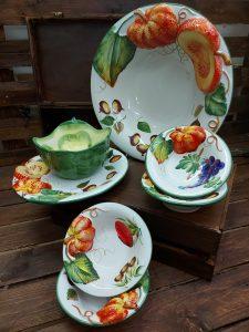 Originálna jedálenská zostava riadu z keramiky JESEŇ