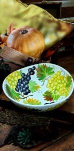 Keramické misky s jesenným motívom HROZNO
