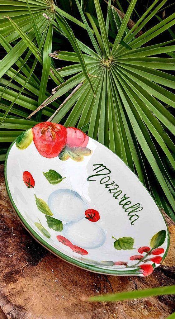 Hlbší keramický tanier paradajka MOZZARELLA