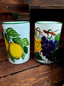 Keramické nádobky, vázičky na varešky, kvety alebo grissini
